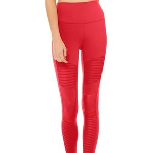 Alo Yoga High-Waist Moto Legging in Scarlet M